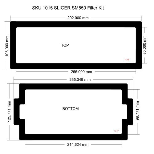 SM550 Filter Kit (case with unvented sides)