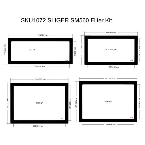 SM560 Filter Kit (case with vented sides)