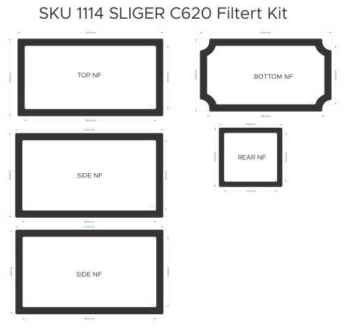 Sliger S620 Filter Kit (case without handle; vented sides)